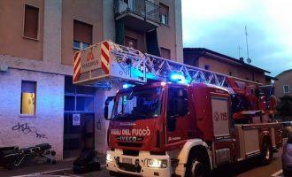 Sesto, fuoco in un appartamento, paura in via Magenta