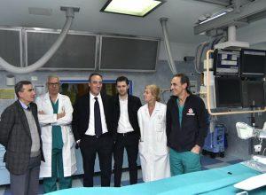 L'assessore Giulio Gallera in visita al Bassini di Cinisello