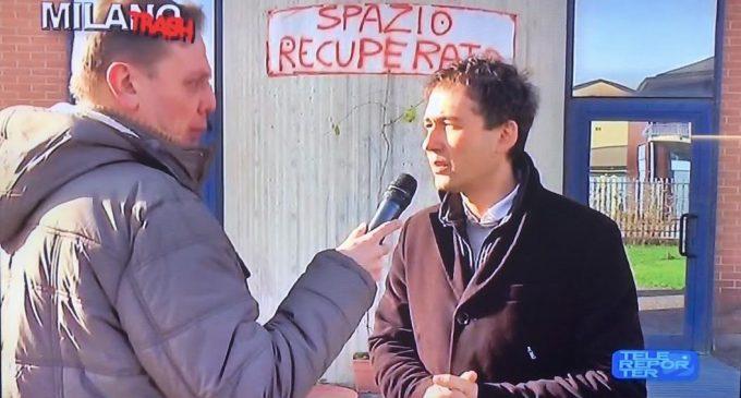 Di Stefano nella 'casa rossa' di Sesto San Giovanni con le telecamere di Telereporter