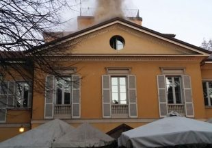 L'incendio alla Villa Zorn di Sesto durante la festa della Befana
