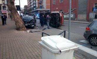 Incidente a Cinisello: un camion ribaltato in via Beato Carino