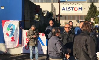 Alstom Transport Sesto: manifestazione a Milano in Assolombarda