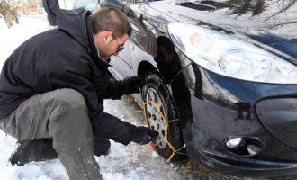 Auto: dal 15 novembre obbligo di pneumatici invernali o catene a bordo