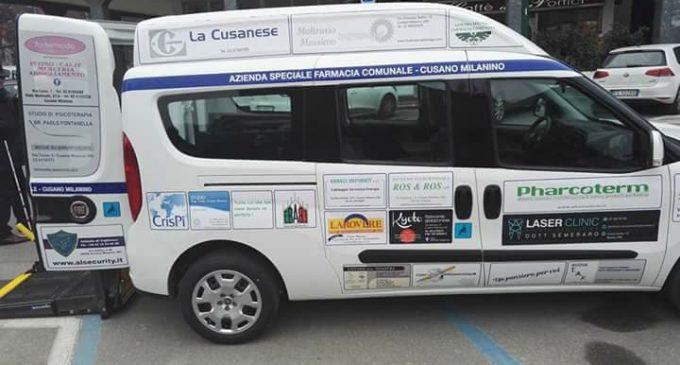 Cusano, inaugurato il nuovo mezzo per il trasporto dei disabili