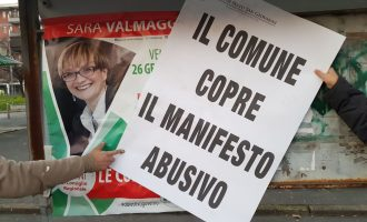 """Sesto, manifesti elettorali abusivi del Pd. Forza Italia: """"Legalità a corrente alternata"""""""