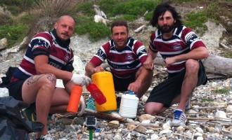 Iride Cologno: rugbisti a Ponza per ripulire le spiagge