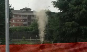 Paderno: fuga di gas nel cantiere di via Dalla Chiesa per la Rho – Monza