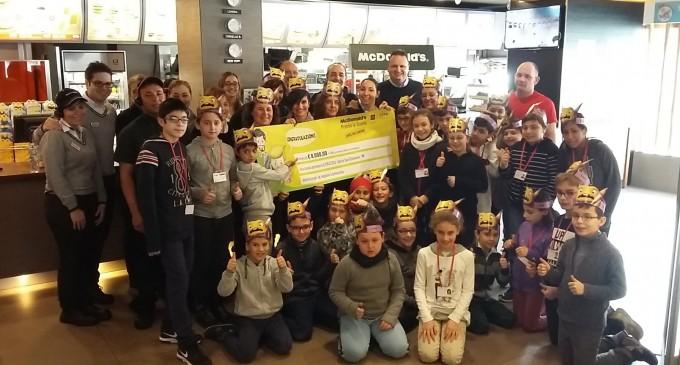 La scuola Pascoli premiata con 8mila euro da McDonald's
