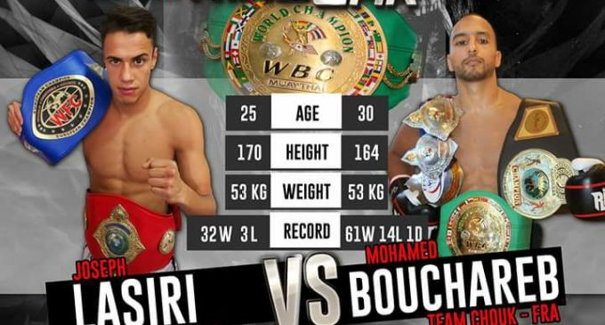 A Ring War 2017 Joseph Lasiri combatte per la cintura Wbc