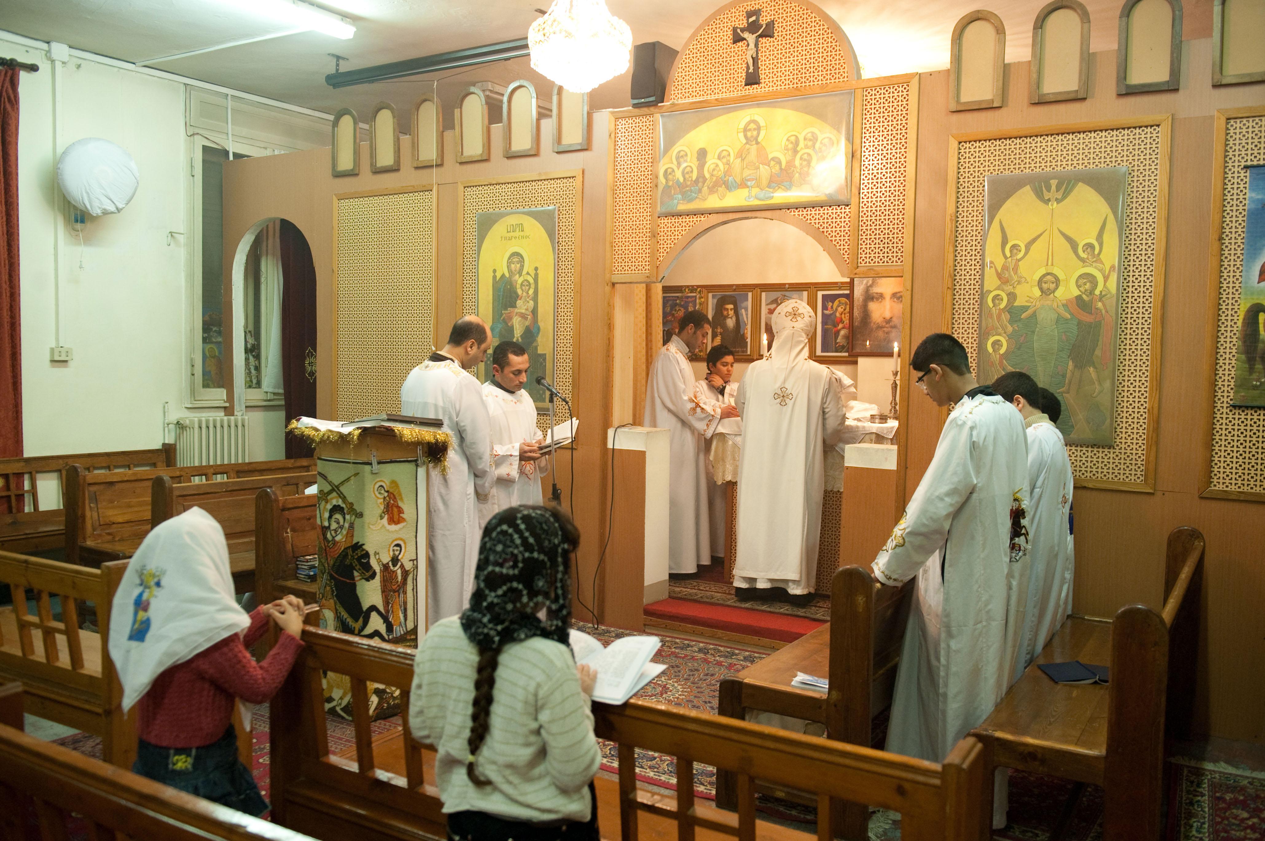 Una celebrazione della Chiesta Copta Ortodossa