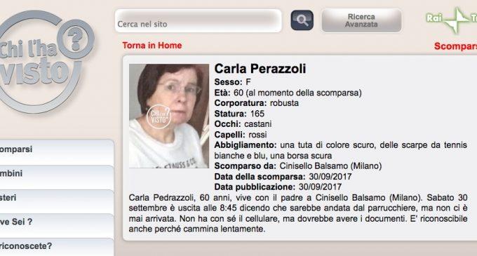 """Scomparsa a Cinisello Carla Pedrazzoli: se ne occupa anche """"Chi l'ha visto?"""""""