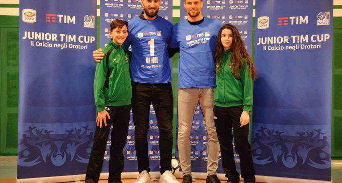 Donnarumma e Padelli a Bresso, testimonial della Junior Tim Cup