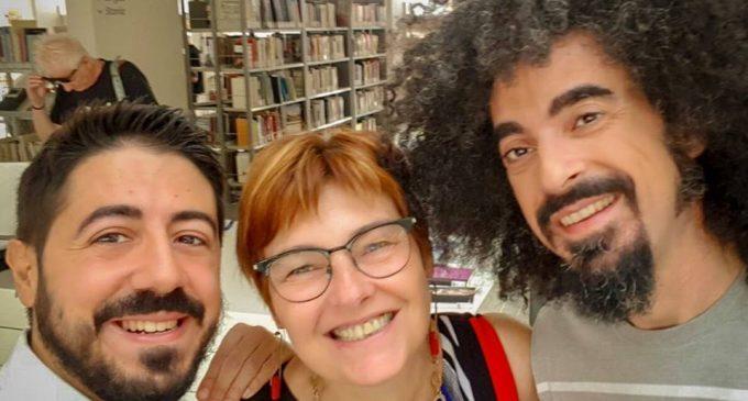Cinisello, Caparezza in biblioteca per girare il suo nuovo video