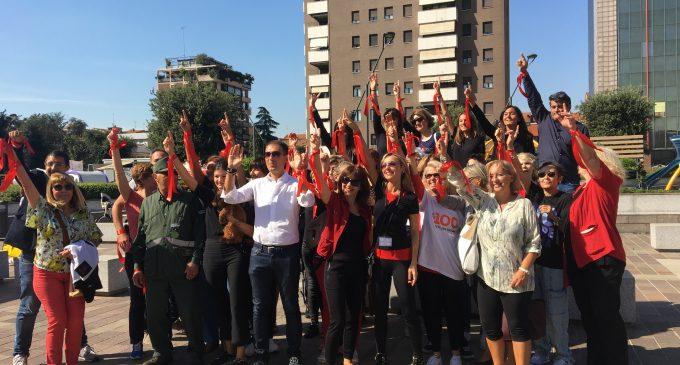 Sesto San Giovanni, un flash mob per inaugurare il centro antiviolenza di piazza Oldrini