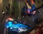 Cormano, auto precipita dal ponte e atterra sulla Milano-Meda. Tre feriti e traffico bloccato