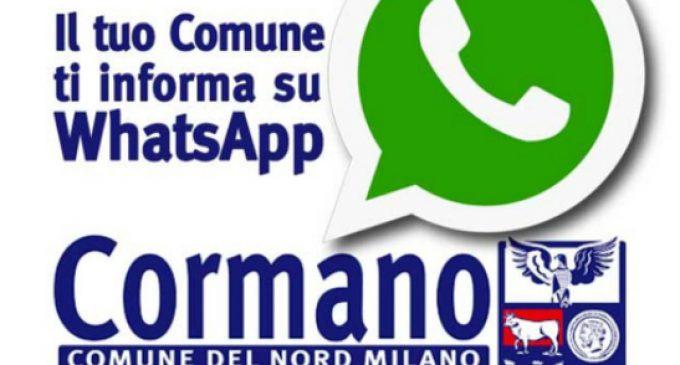 Cormano, il Comune attiva un servizio WhatsApp per comunicare con i cittadini