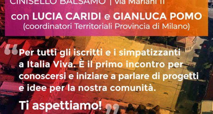 Cinisello Balsamo, il 1° appuntamento di Italia Viva