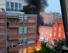 Sesto San Giovanni: notte di fuoco, altro incendio in via Picardi (GUARDA IL VIDEO)
