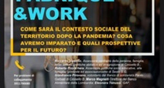 Cinisello Balsamo, FABRIQUE &WORK: ripartire nei nuovi scenari economici e sociali del post pandemia