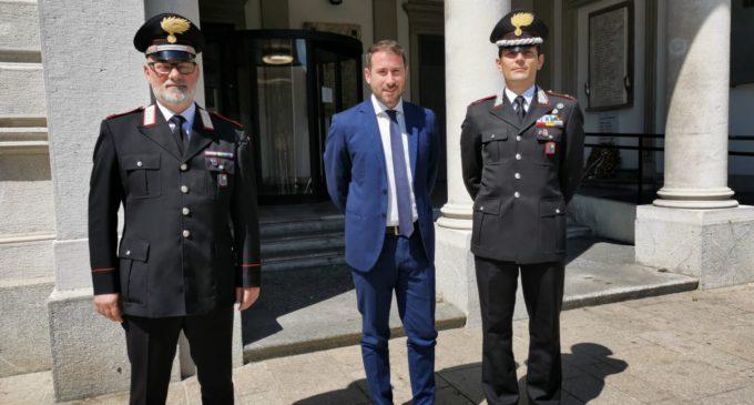 Il benvenuto al nuovo comandante dei Carabinieri Maresciallo Maggiore Giuseppe Rasola