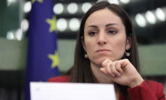 Bresso, l'europarlamentare Eleonora Evi ha fatto visita al cantiere della vasca di laminazione nel Parco Nord