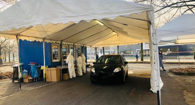 Sesto San Giovanni, tamponi drive-in: buona la partenza con numerosi accessi