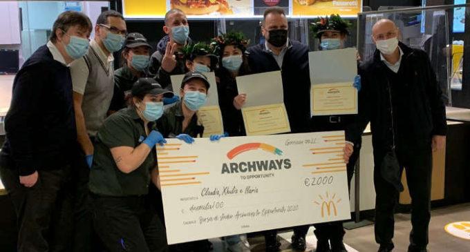 Sesto San Giovanni, McDonald's premia con una borsa di studio 4 giovani collaboratori