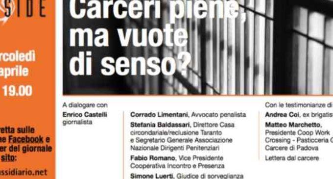 """Milano, """"Carceri piene ma vuote di senso?"""". Incontro sul significato della detenzione"""