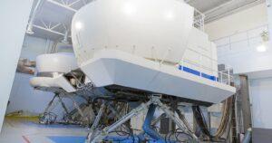 il simulatore della scuola di volo di Bresso