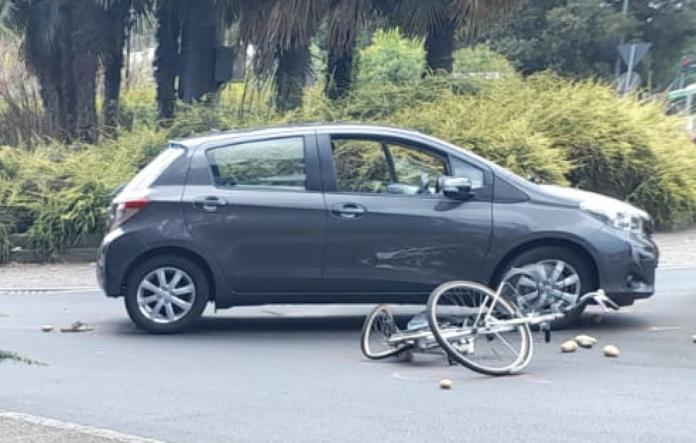 incidente in bicicletta