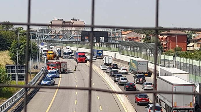 I mezzi di soccorso intervenuti in autostrada